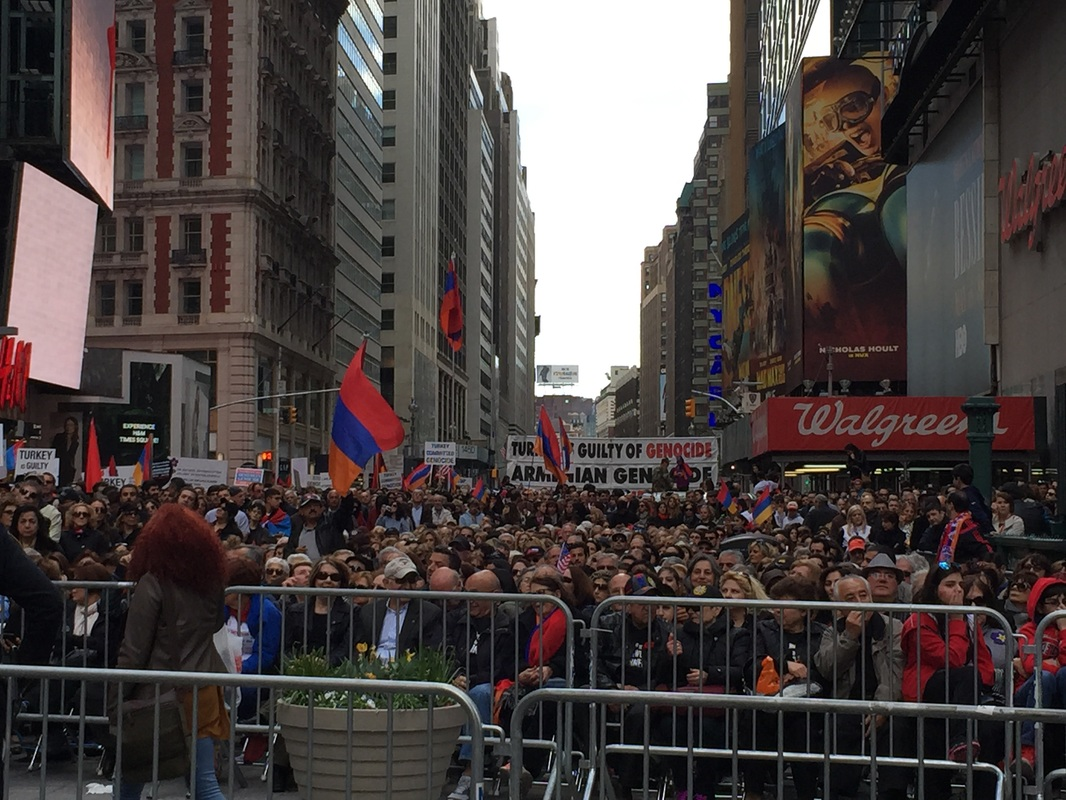 Armenian Genocide commemoration, New York (photo by Daron Keskinian)